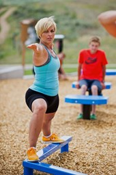 Bild von MoveStrong Fitground Balance Beam Zig-Zag - Outdoor Equipment