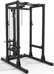 Bild von ATX® Power Rack 750-SET-140 mit Plate Load Latzug und Indexing Multi Chin-up