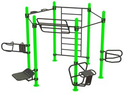 Bild von Outdoor Functional Training Station for up To 10 Users 30-01064