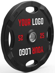 Bild von ATX Polyurethan 4-Grip High-End-Finish Hantelscheiben 50 mm Customer Logo