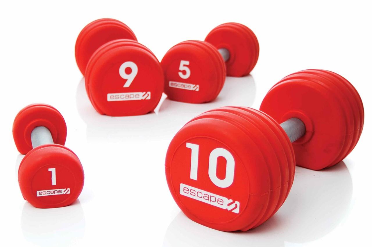 Jk Sportvertrieb Profi Shop Escape Rote Urethan Kurzhantel Set 1 10 Vipr Kg Bild Von Je Gewicht